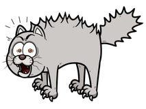 害怕的动画片猫 免版税库存图片