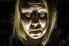 害怕的妇女2 免版税库存图片