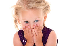 害怕的小女孩 免版税库存图片