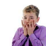 害怕的小男孩 免版税库存图片