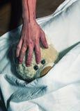 害怕的玩具熊 免版税库存照片