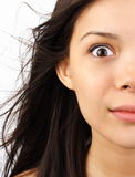 害怕的震惊妇女 免版税库存照片
