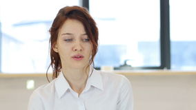 害怕的,害怕妇女 股票录像