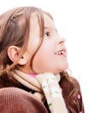 害怕表面女孩纵向惊奇的年轻人 库存图片