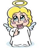 害羞的天使 免版税库存照片