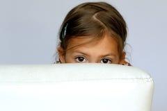 害羞的女孩 免版税库存图片
