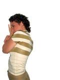 害羞的妇女 免版税图库摄影