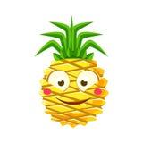 害羞的滑稽的菠萝意思号 逗人喜爱的动画片emoji字符传染媒介例证 免图片
