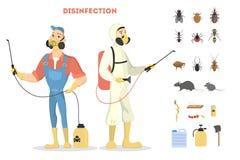 害虫控制服务 向量例证