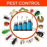 害虫控制概念 皇族释放例证