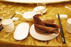 宴会中国设置表 图库摄影