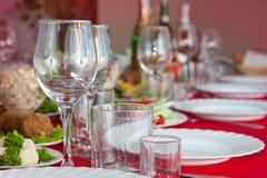 宴会服务的表 免版税库存图片