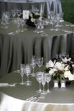 宴会活动设置表 免版税图库摄影