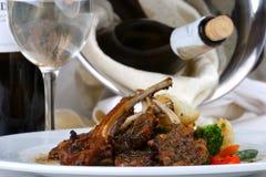 宴会肉设置表 免版税库存照片