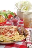 宴餐意大利语 图库摄影