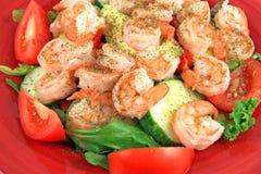 宴餐沙拉虾 库存图片