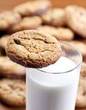 家做的曲奇饼和牛奶 库存图片
