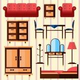 家具传染媒介集合 免版税库存照片