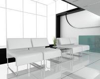 家具办公室白色 免版税库存照片