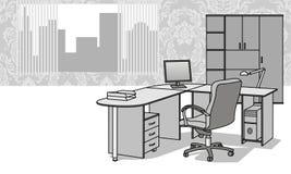 家具办公室 向量例证