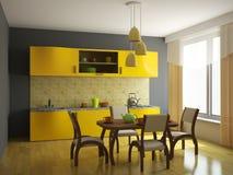 家具厨房桔子 图库摄影