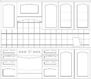 家具厨房 免版税库存照片