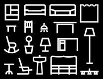 家具向量 免版税图库摄影