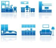 家具图标集 库存照片