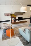 家具在豪华厨房和卧室里 免版税库存照片