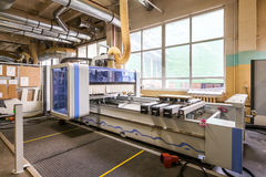 家具工厂生产线 免版税图库摄影