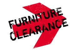 家具清除不加考虑表赞同的人 免版税图库摄影