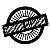 家具清除不加考虑表赞同的人 免版税库存图片