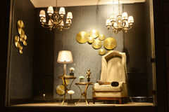 家具照明设备陈列室 免版税库存图片
