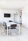 家具现代办公室白色 免版税库存照片