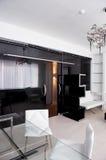 家具玻璃皮革会议室 库存图片