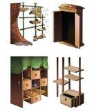 家具的演变 免版税库存图片