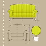 家具设计 免版税库存照片