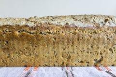 家制面包用蔓越桔和其他添加剂 库存图片