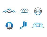 家和大厦商标 免版税图库摄影