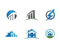 家和大厦商标 免版税库存图片