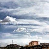 家和天空 库存照片