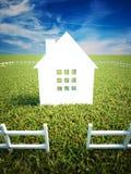 家和财产归属 免版税库存照片