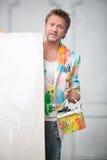 画家和他的艺术 库存图片