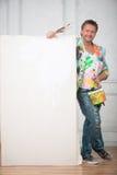 画家和他的艺术 图库摄影