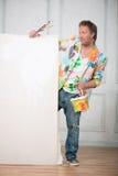 画家和他的艺术 库存照片