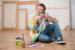画家和他的艺术 免版税图库摄影