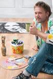 画家和他的艺术 免版税库存照片