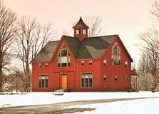 家在冬天 免版税库存图片