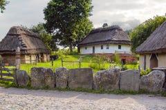 家在村庄 免版税库存照片