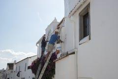 画家在葡萄牙 免版税库存照片